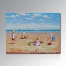 Домашнее украшение Холст Art Beach Дети масляной живописи (EIF-246)