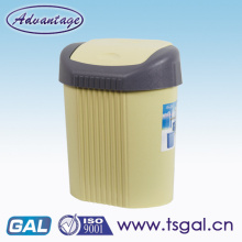 Swing lids dustbin full plastic bin