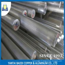 6061 6063 6082 T6 Barre ronde en aluminium