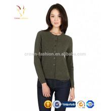 Mulheres de alta qualidade Grosso Cashmere Lã Aberta Frente Cardigan Sweaters