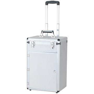 Boîtier de rangement de stockage en aluminium / Étui de stockage à grande taille avec roues