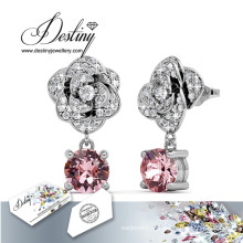 Destino joias cristais de Swarovski brincos de flor