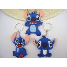 Customized Soft Rubber Silicone Key Chain with Metal Ring