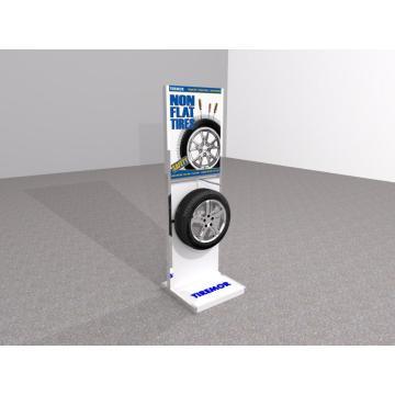 Floor Standing Auto Tyre Metal Display Stand