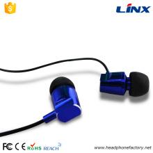 Stéréo de promotion câblé dans des écouteurs d'oreille en métal