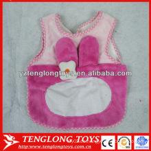 Babero al por mayor del bebé del color de rosa nuevo baberos del bebé de la felpa del diseño