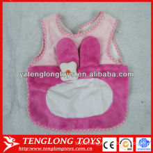 wholesale pink baby bib new design plush baby bibs