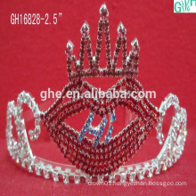 Beautiful and lovely red lips crown,kids princess tiara