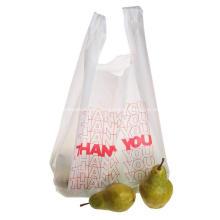 Bolsas de plástico para camisetas Bolsas de comestibles de agradecimiento
