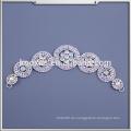 Beaded Applique Großhandel Braut Rhinestone Appliques für Hochzeitskleid
