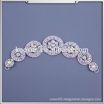 Beaded Applique Wholesale Bridal Rhinestone Appliques for Wedding Dress