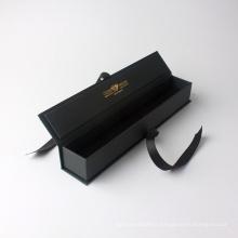 Boîte pliante faite sur commande d'emballage de papier décoratif de cadeau avec le ruban