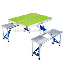 novos conjuntos de mesa e cadeira de piquenique de plástico fresco e mesa de piquenique de mala
