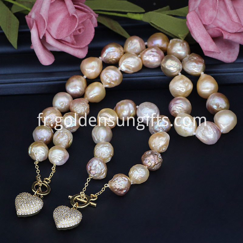Colorful Baroque Pearl Necklace