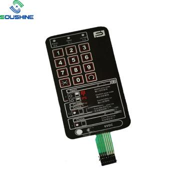 Power Control Equipment schwarzer Membranschalter zweilagig