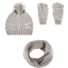 Ladies Cross Stitch hat,gloves and snood