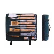 Инструменты для барбекю 12шт с деревянной ручкой