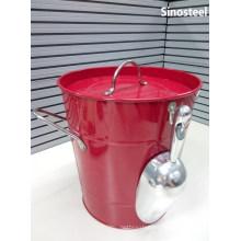 Ice Cream Machine Metal Ice Bucket with Lid & Scoop