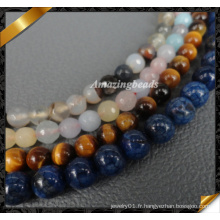 Vente en gros de perles de pierre, perles de pierres précieuses, pierres à bijoux (GB0137)