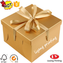 Custom logo printing glossy lamination gift box