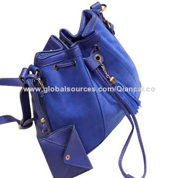 Ladies' Bag with Key Holder, Purse, Fashionable/Casual/Portable String Closure, Long Shoulder Strap