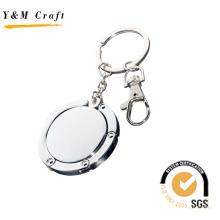 Выдвиженческий металл подарка Bagholder брелок с логотипом подгонять. (G01024)