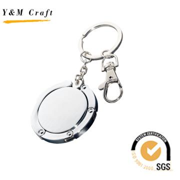 Keychain relativo à promoção do porta-bagagens do metal do presente com logotipo personalizado. (G01024)