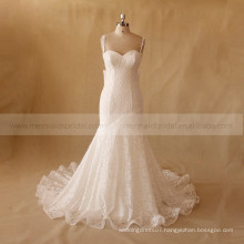 Open Sexy Mermaid Lace Wedding Dress With Sweep Train