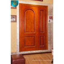 Porte en bois, porte principale, solide Woor