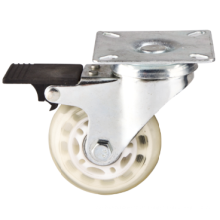 Light Duty Furniture Caster, Transparente PU Caster Swivel mit Bremse