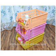 Multipurpose stackable storage rack plastic drawer basket for wholesale
