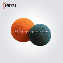 DN125 Orange Cleaning Rubber Sponge Ball