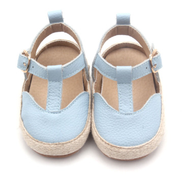 Venta al por mayor recién nacido Baby Girl T-bar Dress Shoes