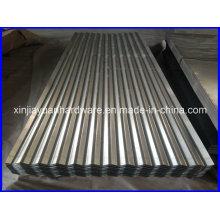 Hoja de cubierta de acero corrugado galvanizado
