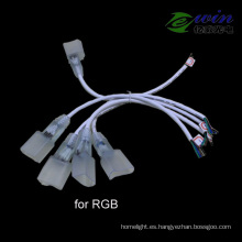 LED de conexión de cable de neón conectado para RGB LED Neon Flex