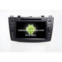 Quad core! Dvd do carro com link espelho / DVR / TPMS / OBD2 para 8 polegada tela sensível ao toque quad core 4.4 sistema Android MAZDA 3
