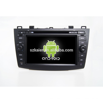 Quad core!car dvd with mirror link/DVR/TPMS/OBD2 for 8 inch touch screen quad core 4.4 Android system MAZDA 3