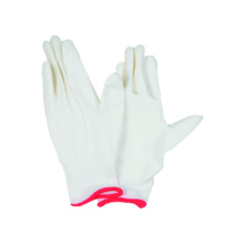 13G tejido guante de poliéster transparente sin costura con guante recubierto de poliuretano