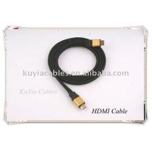 De oro plana HDMI a hdmi cable para 1080p PS3 HDTV