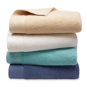 Commercial Thin White Cotton 21'S Bath Towels For Hotel