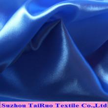 Satin de surface lisse de polyester pour le tissu de robe de dame