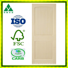 Poplar 2 Panel Arch Veneer Wood Door