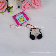 Hot sell giveaway cartoon cow keyring