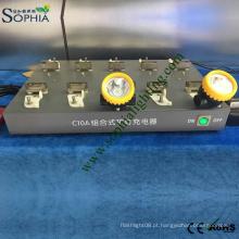Cremalheira da carga da estação de carga para a lâmpada da cabeça do farol da bateria de lítio