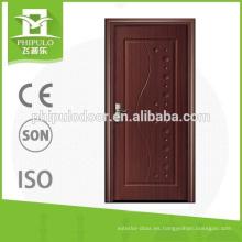 Puerta interior de melamina de protección sanitaria con tablero MDF de 6 mm.