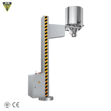 fixed lifting charging pharma pharmaceutical ibc tote bin hopper lifter machine