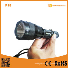 F18 High Power Best T6 Police Rechargeable Powerful Flashlight Strong Light Torch