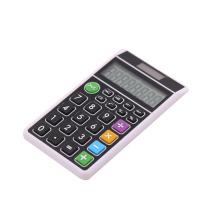 New design solar power 8 digits pocket calculator