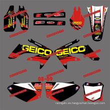 Pegatinas de la bici de la suciedad y la moto y pegatinas de Motocross para Crf250r Honda Crf250 motocicleta 2008 2009 (DST0158)