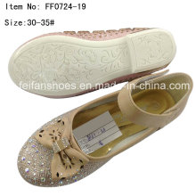 Child Shoes Girl Dance Shoes Princess Shoes Party Shoes (FF0724-19)